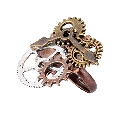 super1798 Vintage Antique Steampunk Watch Pointer Gears Opening Finger Ring Punk Jewelry - 8 from super1798