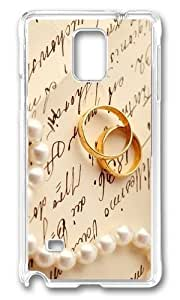 Adorable Gold Wedding Rings Hard Case Protective Shell Cell Phone Samsung Galaxy S6 - PC Transparent