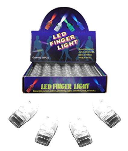 - Fun Central (X824 36ct LED Light Up Finger Lights, LED Party Pack, Party Favor Pack, Party Supplies Pack, LED Light Party Pack - White