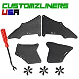 Customzliners USA Front Fender Liners + Retainer Clips + Removal Tool Fit for 2003-2019 Toyota Land Cruiser Prado J120 J150 Apron Liner Splash Shield Flap Seal Splash Guard Skirt