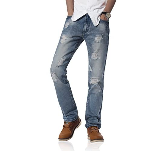 Top Demon hunter Men's Straight-Fit Jeans S8L2R1 free shipping