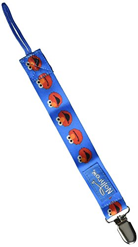 3 Pack Petite Creations No Throw Sesame Street Pacifier Holder Elmo, Blue