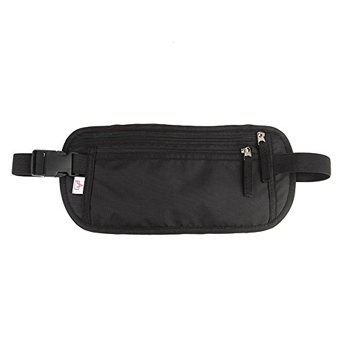 AIKELIDA RFID Blocking Travel Wallet - Money Belt & Passport Holder