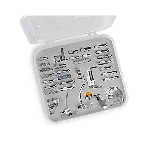 Embroidex 32 Sewing Feet in Plastic Storage Case - Works with all Low Shank Embroidery Machines Brother Babylock Bernina New Home Janome Juki Kenmore Singer 4336999339