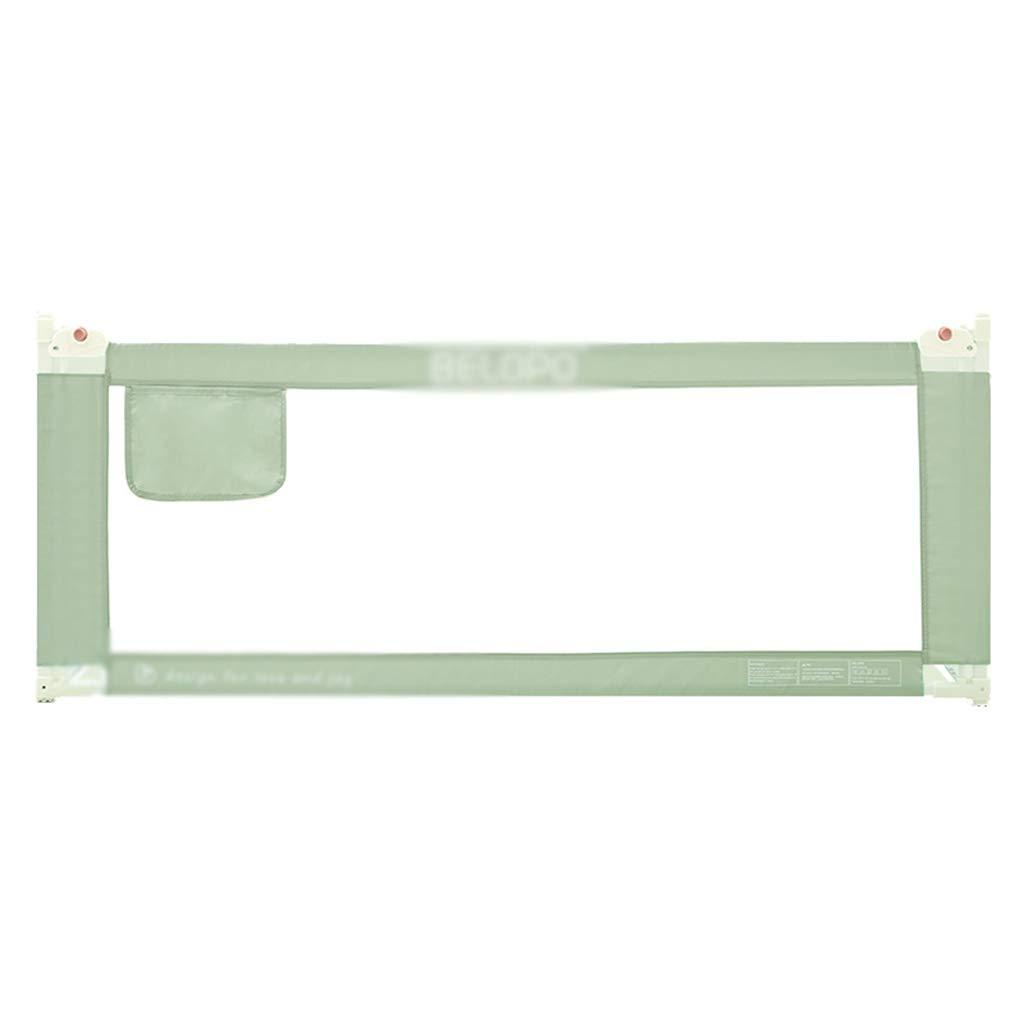C-J-Xin ベッドのフェンスに移動する、赤ちゃん高機能多機能子供屋内ゲームフェンスベッドルーム大きなベッドのソフトセーフティ保護フェンス、1.5-2.2M チャイルドテント (色 : 緑, サイズ さいず : 200*90CM) B07RBQB7BN 緑 200*90CM
