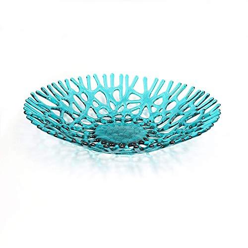 oral Fruit Bowl Centerpiece in Aquamarine Blue Green ()