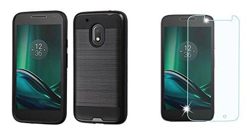 Anti-Fall Armor Phone Case for Moto G4 Play(Black) - 4