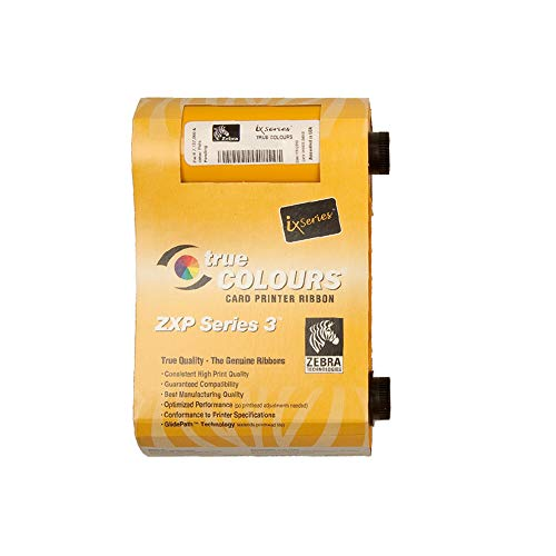 Zebra Technologies 800033-347 IX Series High Capacity Color Ribbon for Enhanced ZXP Series 3, 1/2 Panel TMCKO, 400 Labels per Roll