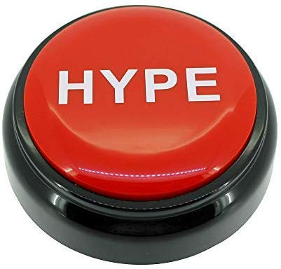 HYPE ButtonTM 2.0   Hip Hop Air Horn Sound Effect Button (BATTERIES INCLUDED) by Sound RX