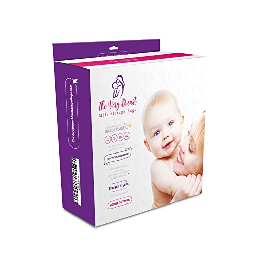 110 Count 8 Oz. The Very Breast Milk Storage Bags - Premium Quality Pre-sterilized Breastmilk Storage Bags - BPA/BPS & Phthalate Free - With Gusseted Bottom & Measurement Marks - Double Zipper Seal