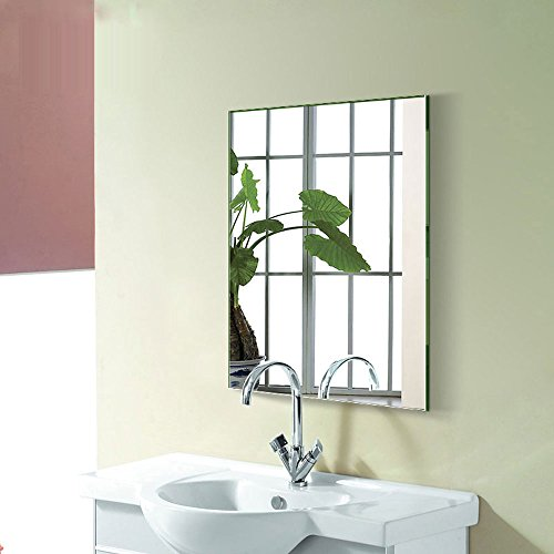DECORAPORT 24 Inch 32 Inch Frameless Wall-mounted Bathroom Silvered Mirror Rectangle Vertical Horizontal Vanity Mirror (A-B8016H) by Decoraport