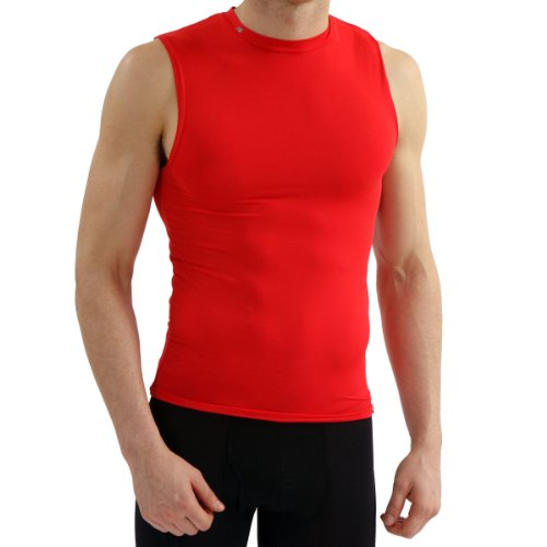 New Balance Mens Compression Crew Neck Muscle Tank - Red - XX-Large