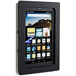 "Amazon Fire 7"" Security Anti-Theft Acrylic VESA Enclosure with Wall Mount Kit (Black)"