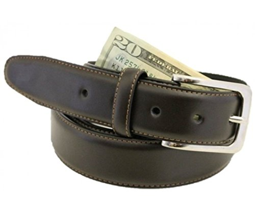 Deerfield Money Belt made in USA by Thomas Bates (38, Brown)