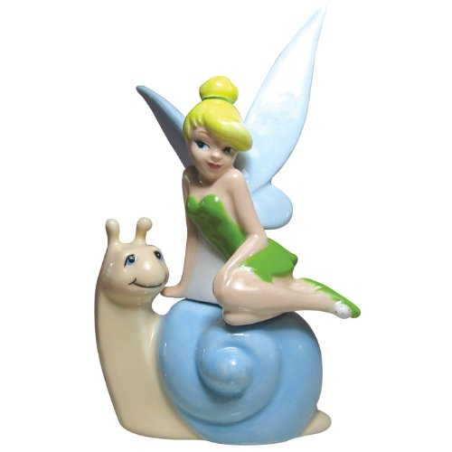 Westland Giftware Life According to Tinker Bell Tink's Snail Ride 4-Inch Magnetic Salt and Pepper Shakers