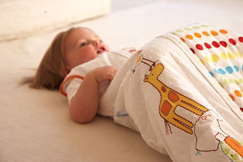 The Gro Company 1911 - Saco para dormir (talla: 6-18 meses), color blanco y lunares: Amazon.es: Bebé