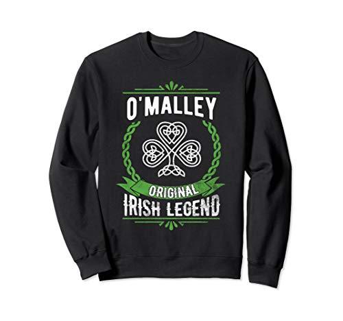 OMalley Irish Surname Sweatshirt Green Irish Legend ()