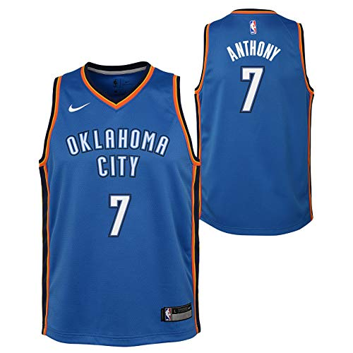 Outerstuff Carmelo Anthony Oklahoma City Thunder NBA Nike Youth Blue Icon Swingman Jersey
