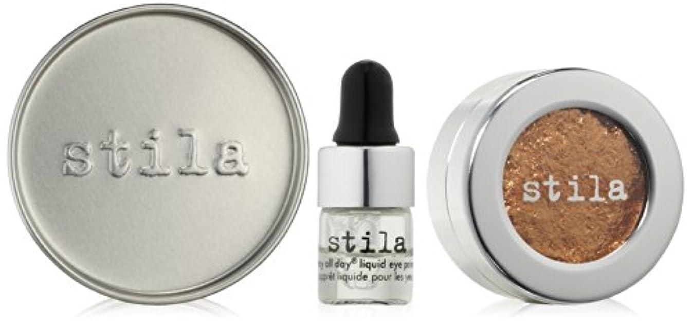 しなやか信頼性のある枠スティラ Magnificent Metals Foil Finish Eye Shadow With Mini Stay All Day Liquid Eye Primer - Comex Gold 2pcs並行輸入品