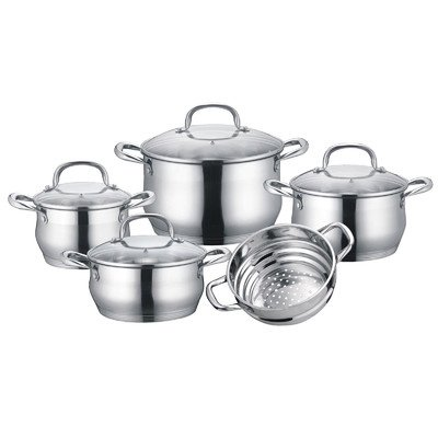 5 Ply Cookware Set (Concord 9 Piece Stainless Steel 5-Ply Bottom Cookware Set (Induction)