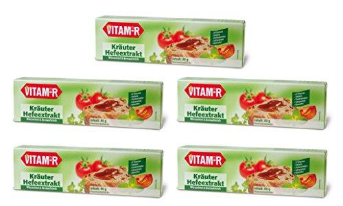 "Vitam-R Kräuter Hefeextrakt das Original 5x80g Tube ""VORRATSPACK"""