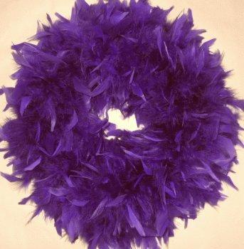 Fluffy Regal Chandelle Feather Wreath...Gorgeous Home Accent Wreath! (Christmas Wreath Purple)