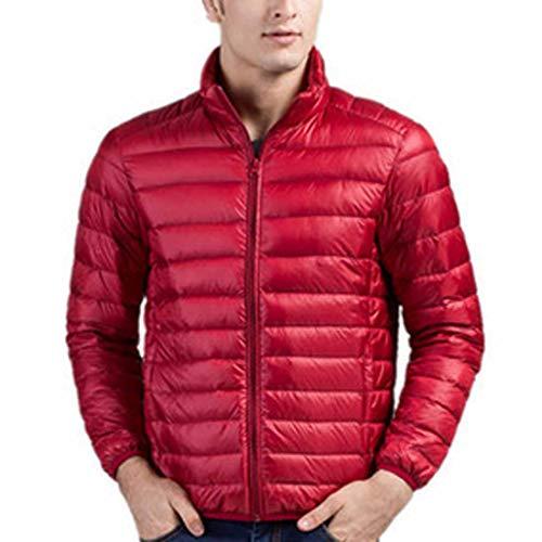 Leggero Puffer Giù Giacca Inverno Maschile store Caldo Packable Cappotto Rossa Cx FxTw7qOE