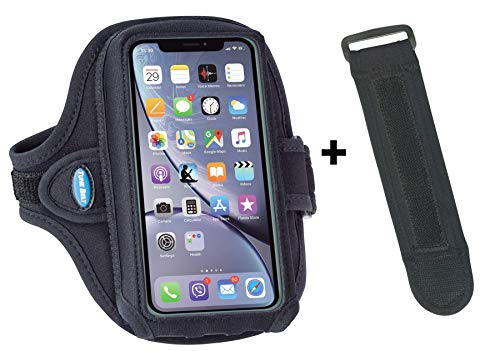 Tune Belt Armband [with Extra Room to Fit Cases] for iPhone 11, 11 Pro Max, Xr, Xs Max, 7/8 Plus, Galaxy S8 S9 S10 Plus and Note 8 9 10+ for Running & Working Out [Includes EX3 Armband Extender]