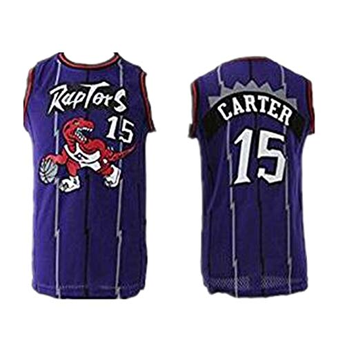 Carter Vince Basketball (Mens Carter #15 Purple Hardwood Classic Vince Basketball Jersey (Purple, S))