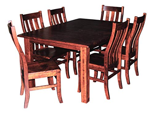 Custom Dining Furniture - Cherry Wood Dining Room Table for 6 - 8, Table Only, No Chairs, Expandable Hardwood Amish Made Heirloom Dining Room Furniture, Custom Made, White Glove Delivery, 2- 12 Inch Leaves, 42 x 60