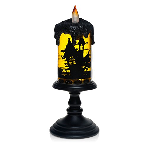 Halloween Bat Tornado LED Lighting Flameless Candle, Battery Operated Table Centerpiece for Home and Party