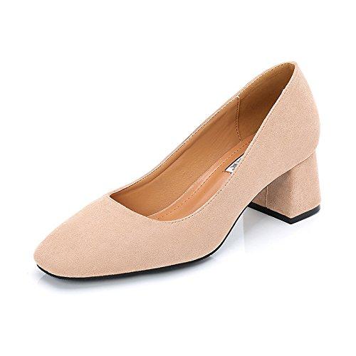 Zapatos GAOLIM Orden De Zapatos Solo Zapatos Zapatos Negra Trabajo Ocupacional Luz Cómodos Color Mujer De Zapatos De Solo De Con Boca Los Con Tacón De Zapatos Gruesas Superficial Sólido Cuadrados Beige Solo frfwqv