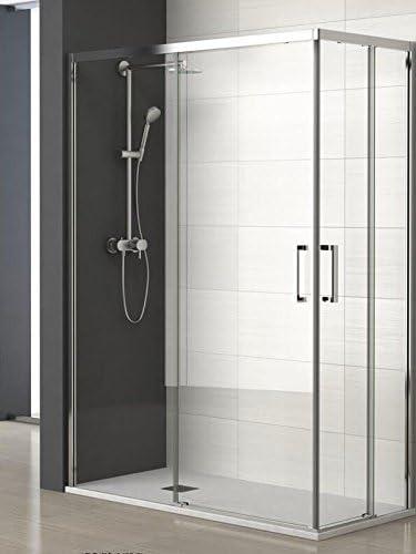 ALBAÑO (Mod. Lyon) Mampara para ducha de apertura Vertice (100 x ...