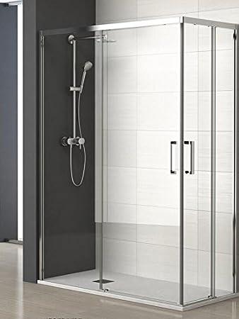 ALBAÑO (Mod. Lyon) Mampara para ducha de apertura Vertice (100 x 70 cm): Amazon.es: Bricolaje y herramientas