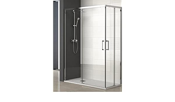 ALBAÑO (Mod. Lyon) Mampara para ducha de apertura Vertice (100 x 80 cm): Amazon.es: Bricolaje y herramientas