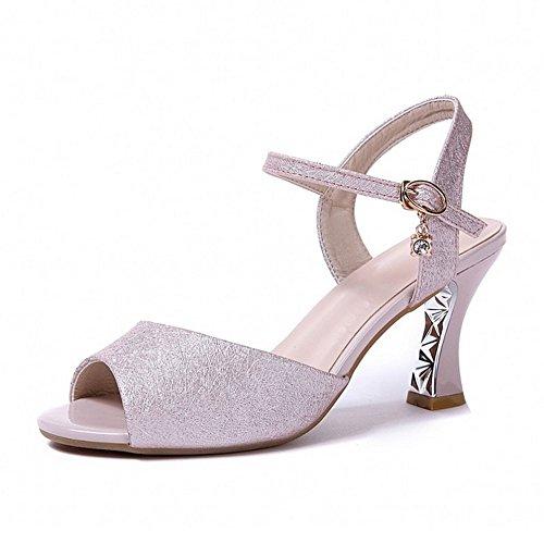 scarpe LI sandali Flop BAJIAN Peep Ladies toe Alta heelsWomen scarpe di Flip sandali estivi basse H8w1xdw