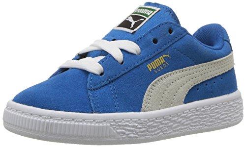 PUMA Baby Suede Kids Sneaker, Snorkel Blue White, 6 M US Toddler