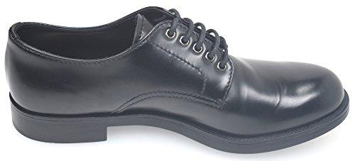 Prada Herenschoenen Lederen Mannen Zakelijke Schoenen Lace Derby Zwart
