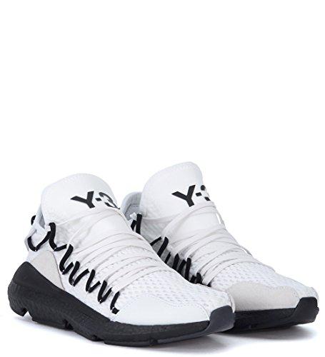 Adidas Y-3 Heren Y-3 Kusari Witte Mesh En Lederen Sneaker Wit