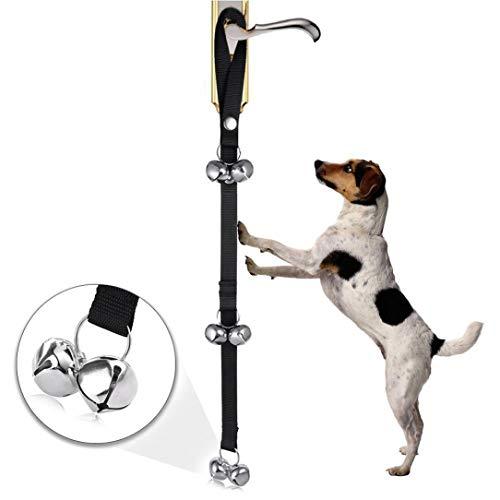 2018 Dog Doorbells for Dog Training and Housebreaking Clicker Door Bell (Black)