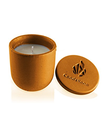 Candellana Candles Candlefort Candles Concrete Modern I-Orange, Scent: Orient Wood -