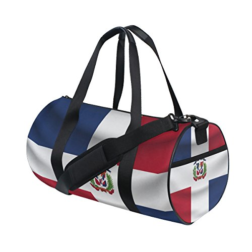 Dominican Republic Flag Travel Duffel Shoulder Bag ,Sports Gym Fitness Bags