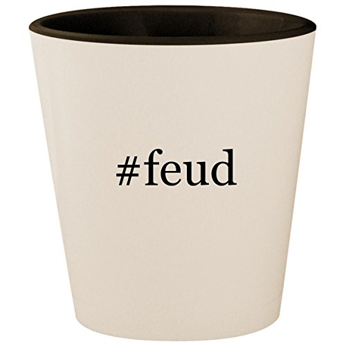 Price comparison product image feud - Hashtag White Outer & Black Inner Ceramic 1.5oz Shot Glass