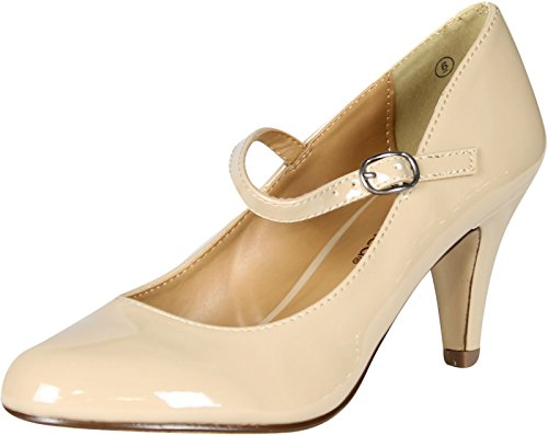 City Classified Womens Kaylee-H Pumps Shoes,Beige,9 -