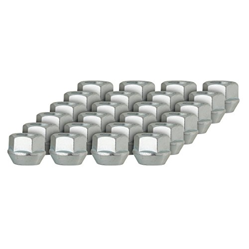 DPAccessories D2228-2308/24 24 Silver 14x1.5 Open End Bulge Acorn Lug Nuts - Cone Seat - 22mm Hex Wheel Lug Nut Bulge Open End Conical Seat