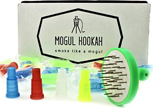Hookah Tips Shisha Accessories Mouthpiece tip | Nargila Foil Puncher | Foil Hole Poker | Disposable Hookah Hose Adapter Tips | Hookah Hoses Supplies Mouth Pieces Plastic Female Tips (100)