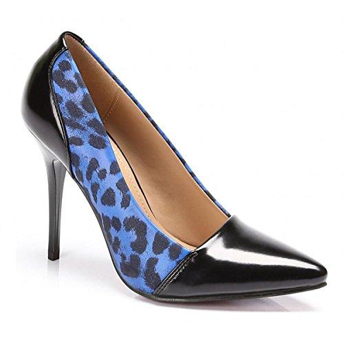 Frauenplattform Leopard Hohenlimburg 3 Blau W ZxYvv6