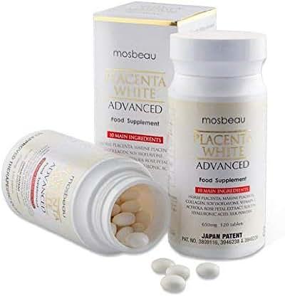 3 Bottles of Mosbeau Placenta White Advanced Whitening Tablets