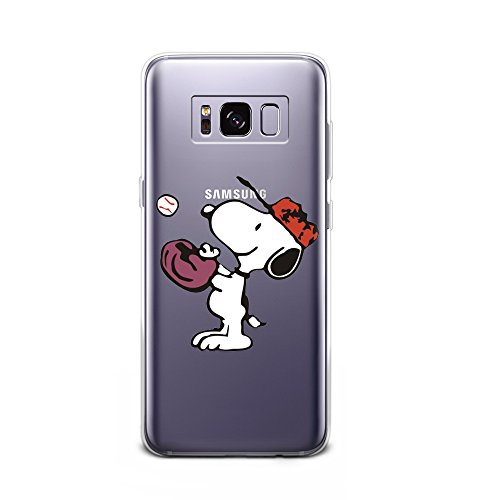 LOOKSEVEN Galaxy S8 Plus Case,Cute Snoopy Pattern Soft Transparent TPU Protector Cover for Samsung Galaxy S8 Plus #Color 12