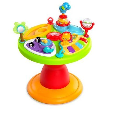 41MzNC7G6TL - Bright Starts 3-in-1 Around We Go-Activity Station, Baby Walker And Baby Toys